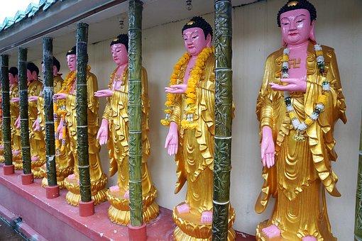 Temple, Buddha, Religion, Statue, Culture, Sculpture