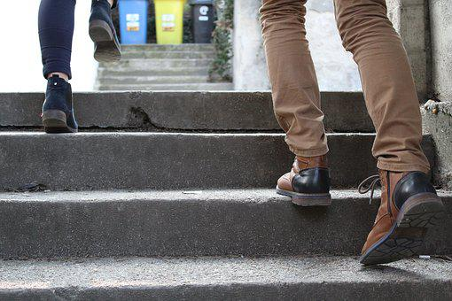 Shoes, Stairs, Slovakia, Trip
