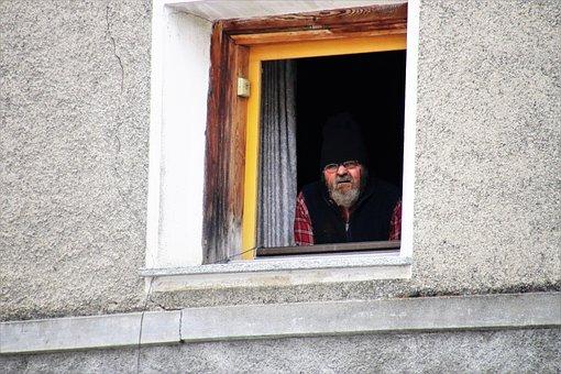 Window Sill, A Person, Window, Lake Dusia, House