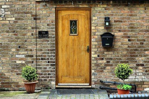 House, Wall, Door, Architecture, Entrance, Doorway