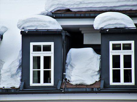 Window, House, Winter, Architecture, Family, Snow
