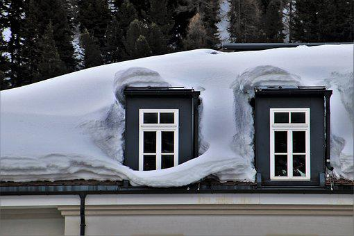 Snow, Attic, Facade, High, Winter, Hotel, House, Cold