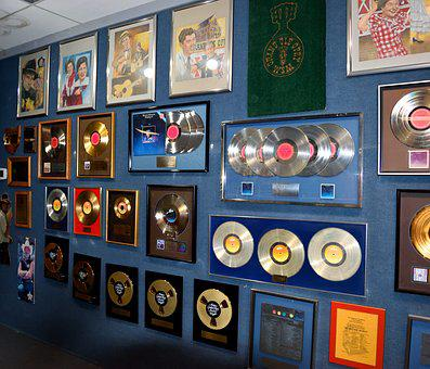 Gold Records, Award, Background, Record, Gold, Success