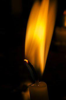 Flame, Burnt, Burn, Job, Candle, Hot, Dark, Candles