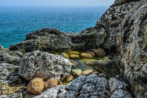 Nature, Rock, Landscape, Sea, Sky, Clouds, Rocky Coast