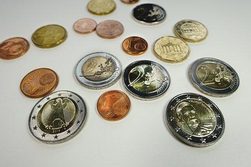 Coins, Euro, Wealth, Golden, Treasure, Background