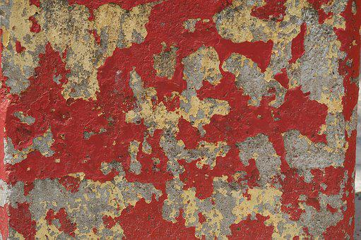 Pattern, Structure, Red, Concrete, Flake, Paint