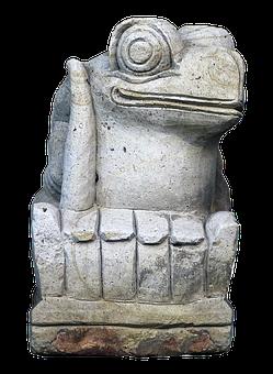 Figure, Frog, Gnome, Face, Ceramic, Sculpture, Statue