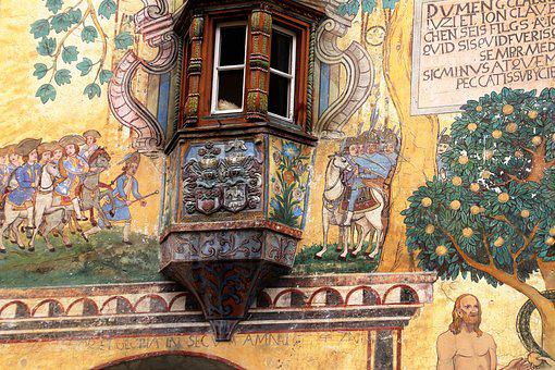 Frescoes, House, Old House, The Art Of, Painting