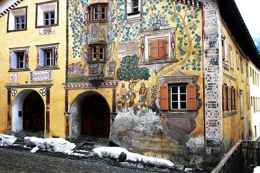 Architecture, Frescoes, Decorating, Old, Street