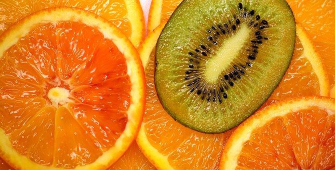 Orange, Kiwi, Delicious, Fruit, Vitaminhaltig, Fruits