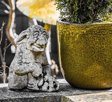 Gargoyle, Garden, Ornament, Outdoors, Aged, Sculpture