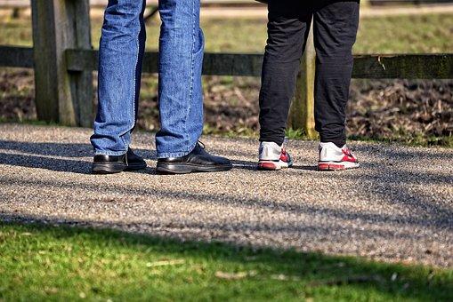 Man, Woman, Together, Two, Leg, Four Legs, Man's Leg