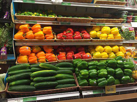 Market, Supermarket, Stock, Sale, Shopping, Cucumbers