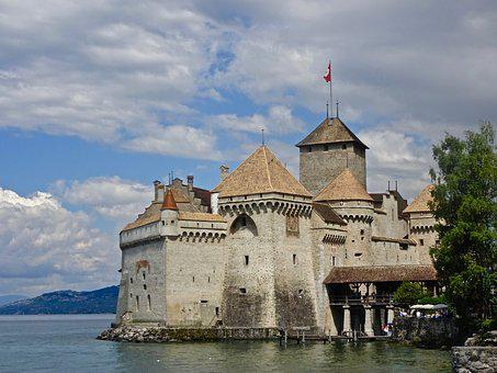 Castle, Chillon, Architecture, Travel, Medieval