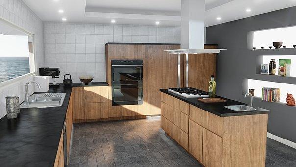 Kitchen, Design, Modern, Contemporary, Indoors