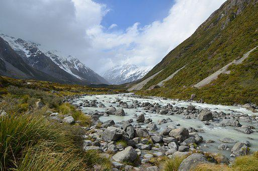 Nature, Mountain, New Zealand, Hooker Valley