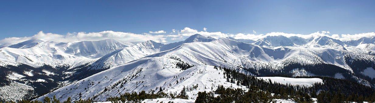 Snow, Panorama, Winter, Panoramic, Mountain, Ice