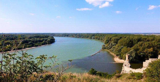 Body Of Water, Nature, Slovakia, Danube, Panoramic, Sky