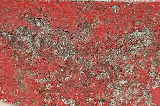 Abstract, Pattern, Structure, Old, Paint, Red