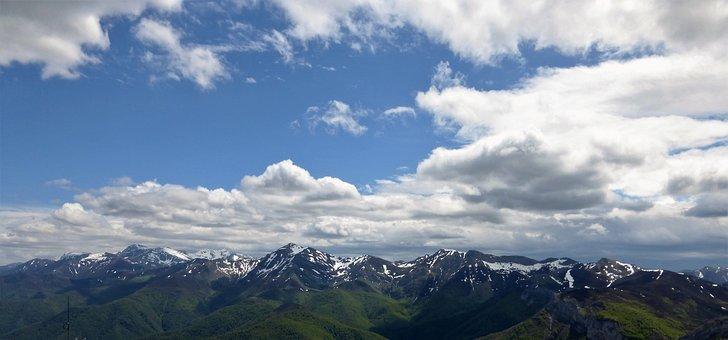 Panoramic, Mountain, Nature, Snow, Panorama, Top, Sky