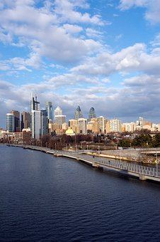 City, River, Water, Panoramic, Skyline, Philadelphia