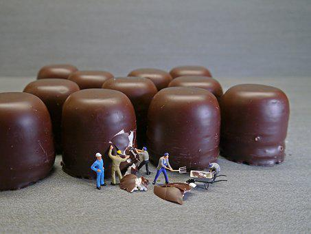 Mohr Heads, Chocolate Marshmallow, Workers, Poster