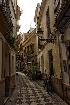 Architecture, Road, City, Home, Seville, Spain