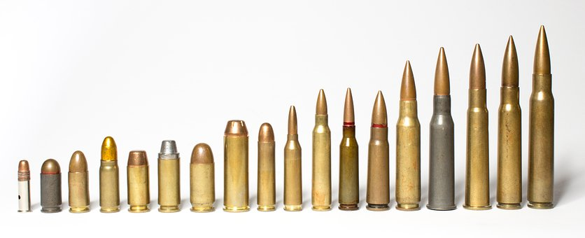 Ammunition, Weapons, Cartridges, Sleeves, War, Terror