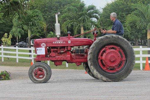 Tractor, Farmall, Antique, Rural, History, Mccormick