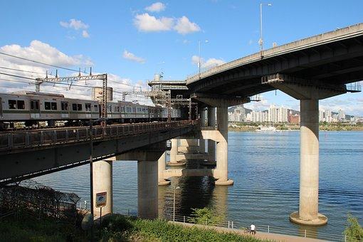 Bridge, Structure, Concrete, Steel, Transport, Modern