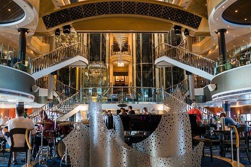 Norwegian Dawn, Cruise Ship, Lobby, Industry, Travel