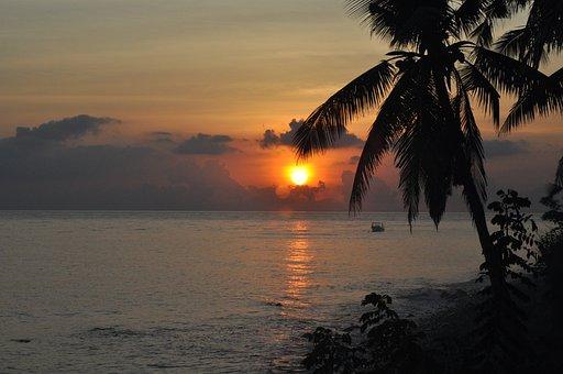 Beach, Sunset, Waters, Costa, Tropicale, Bali