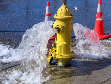 Water, Safety, Spray, Hydrant, Wet, Danger
