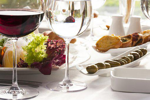 Wine, The Drink, Restaurant, Food, Wine Glasses