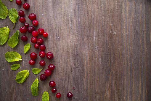Wood, Background, Cranberries, Vitamins