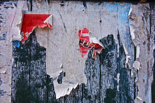 Fence, Wooden Fence, Plank, Placard, Poster, Flaking