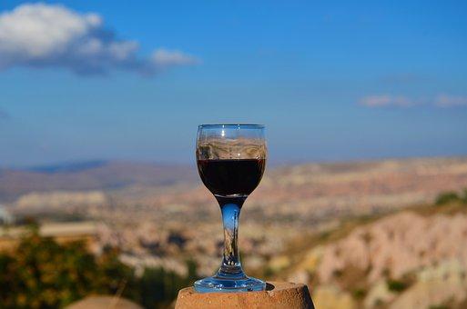 Cappadocia, Panoramic, Wine, Landscape, A Toast