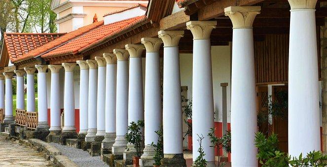 Architecture, Pillar, Roman, Arcade, Rome, Building