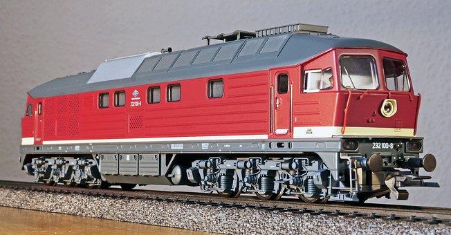 Diesel Locomotive, Model, Scale H0, Dr, Deutsche Bahn