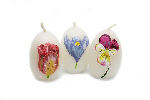Easter, Eggs, Candles, Flowers, Ornament, Souvenir