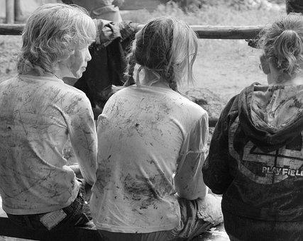 Children, School Trip, Mud, Game, Body Kits, Cosy