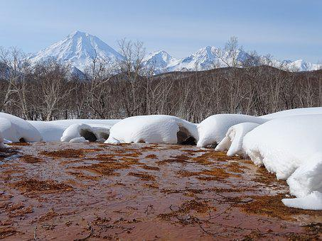 Spring, Hot Springs, The Melting Of The Snow, Creek