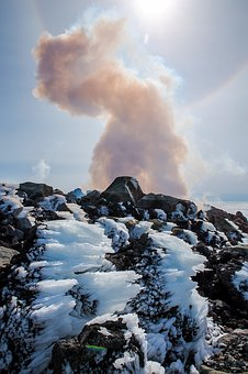 Landscape, Snow, Smoke, Volcano, No One, Pairs