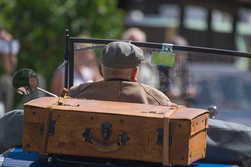 Human, Man, Luggage, Traveler Vintage, Drive