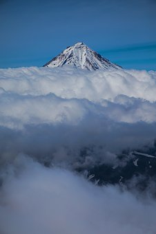 No One, Sky, Snow, Mountain, Landscape, Volcano