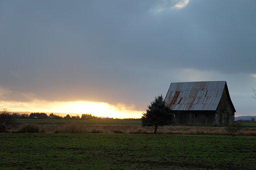 Landscape, Outdoors, Nature, Agriculture, Farm, Barn