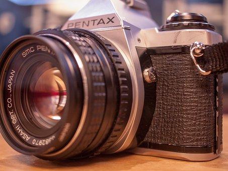 Lens, Zoom, Antique, Retro, Film, Old School, Old