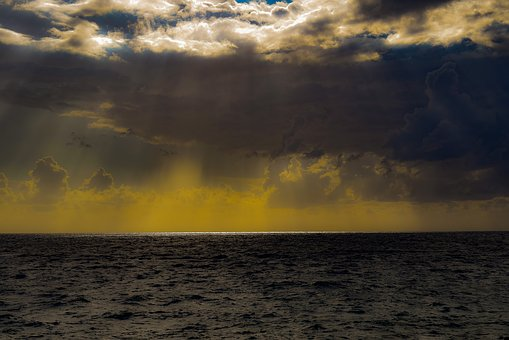 Libyan Sea, Nature, Sea, Sky, Clouds, Overcast