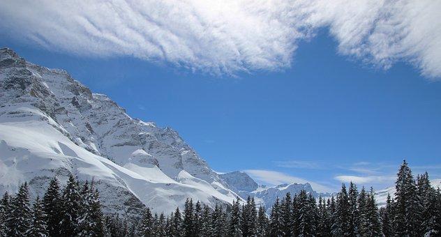 Snow, Mountain, Panorama, Nature, Winter
